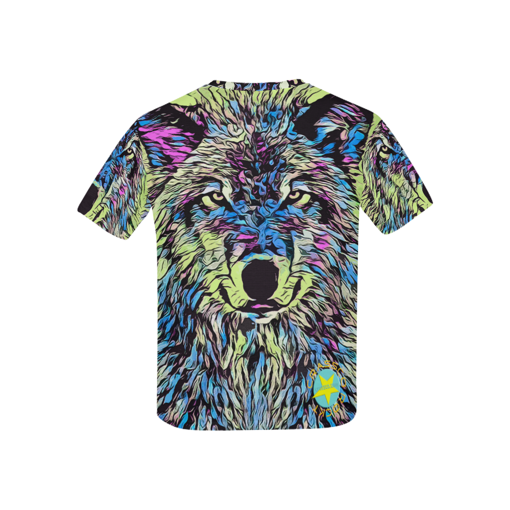 WOLF SUPERCOLOR ART Kids' All Over Print T-shirt (USA Size) (Model T40)