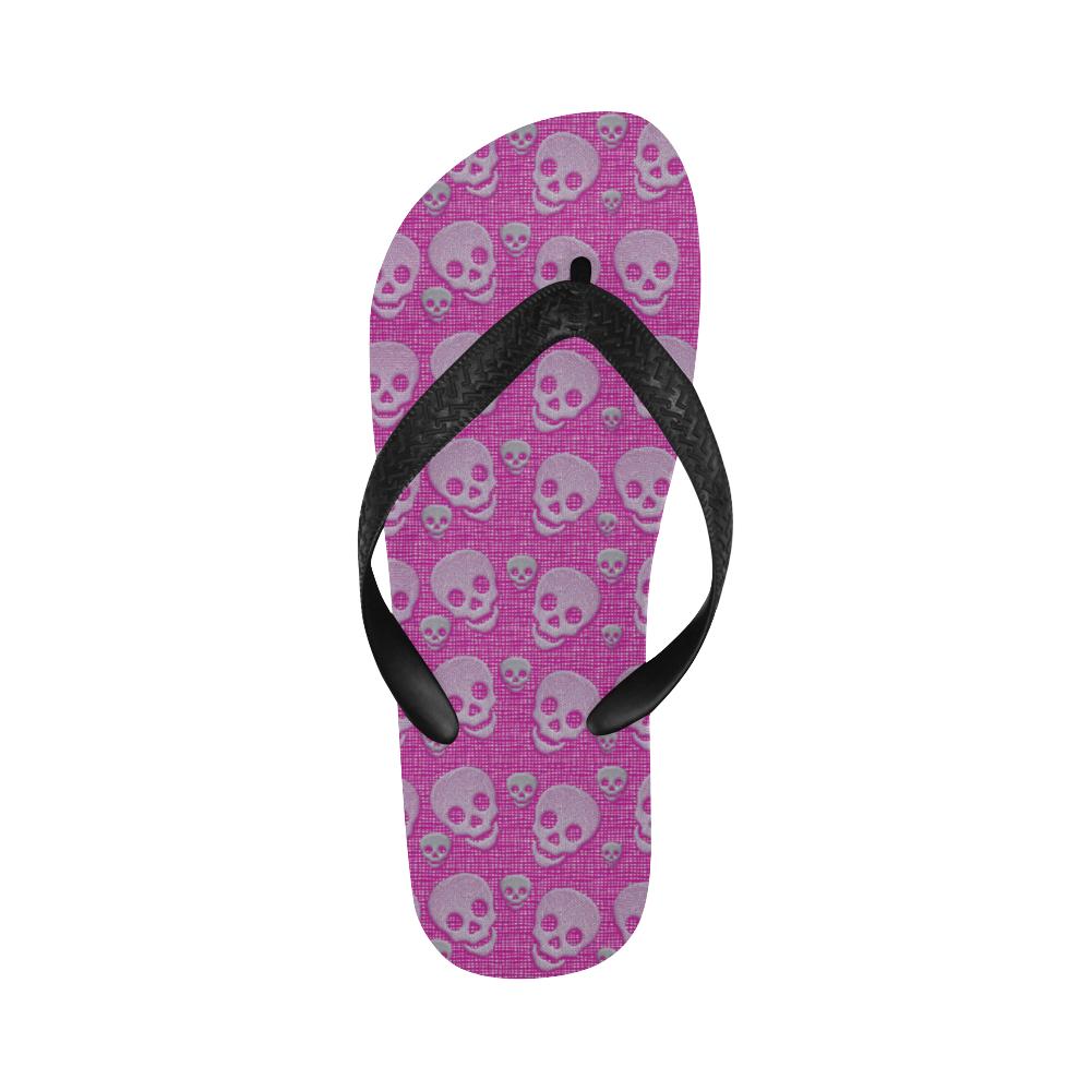 SKULLS PINKY Flip Flops for Men/Women (Model 040)