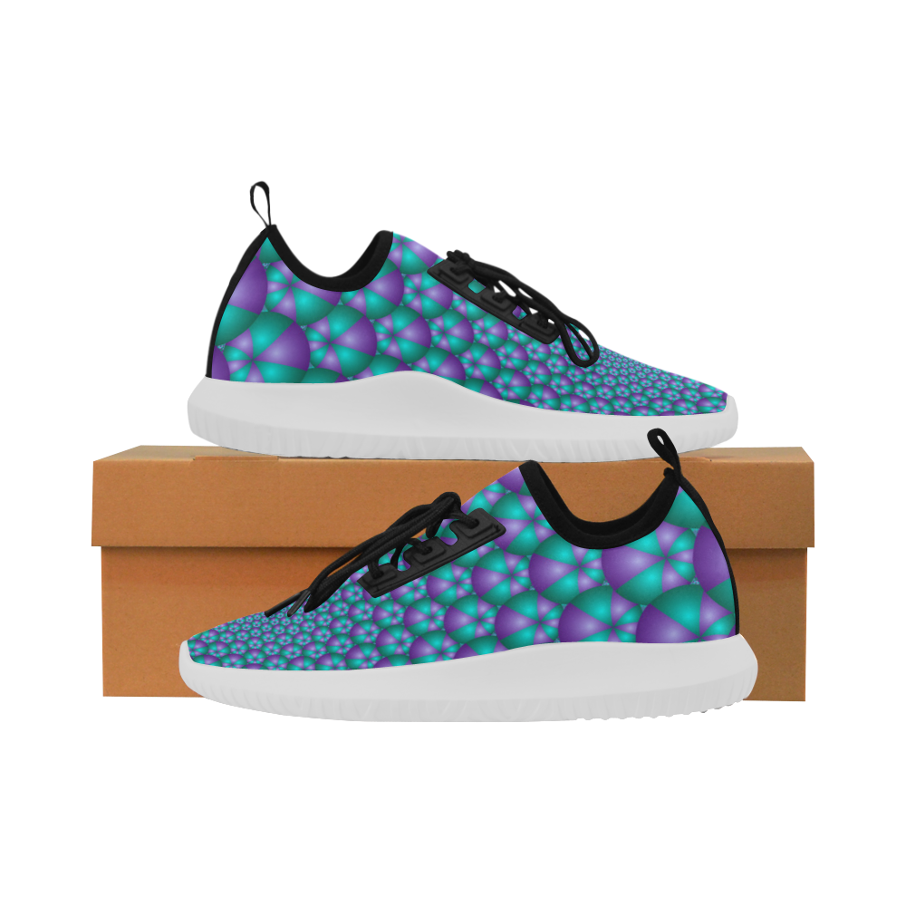 Spiral balls 001 Dolphin Ultra Light Running Shoes for Women (Model 035)