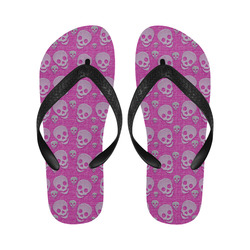 SKULLS PINKY Flip Flops for Men/Women (Model 040)