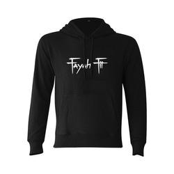 Fayah Fit Black Gildan Hoodie Sweatshirt (Model H03)