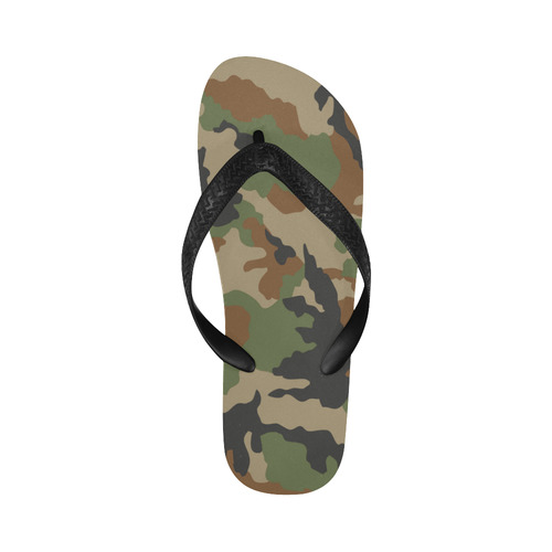 CAMOUFLAGE WOODLAND Flip Flops for Men/Women (Model 040)