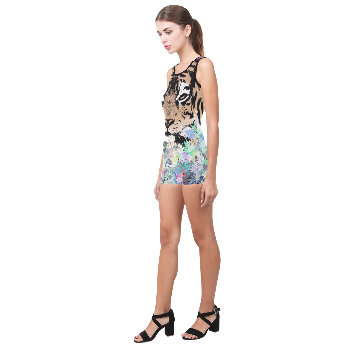 TIGER FLOWERS Classic One Piece Swimwear (Model S03)