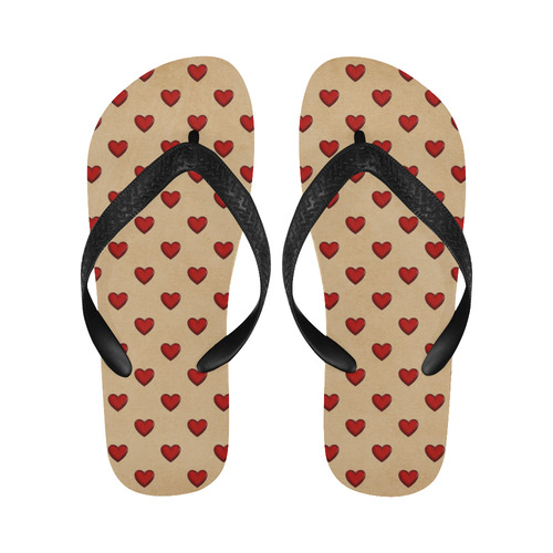 RETRO HEARTS Flip Flops for Men/Women (Model 040)