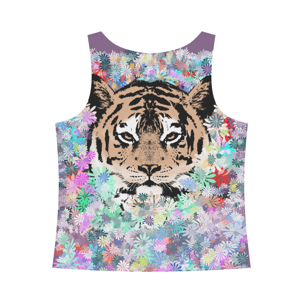 TIGER FLOWERS All Over Print Tank Top for Women (Model T43)