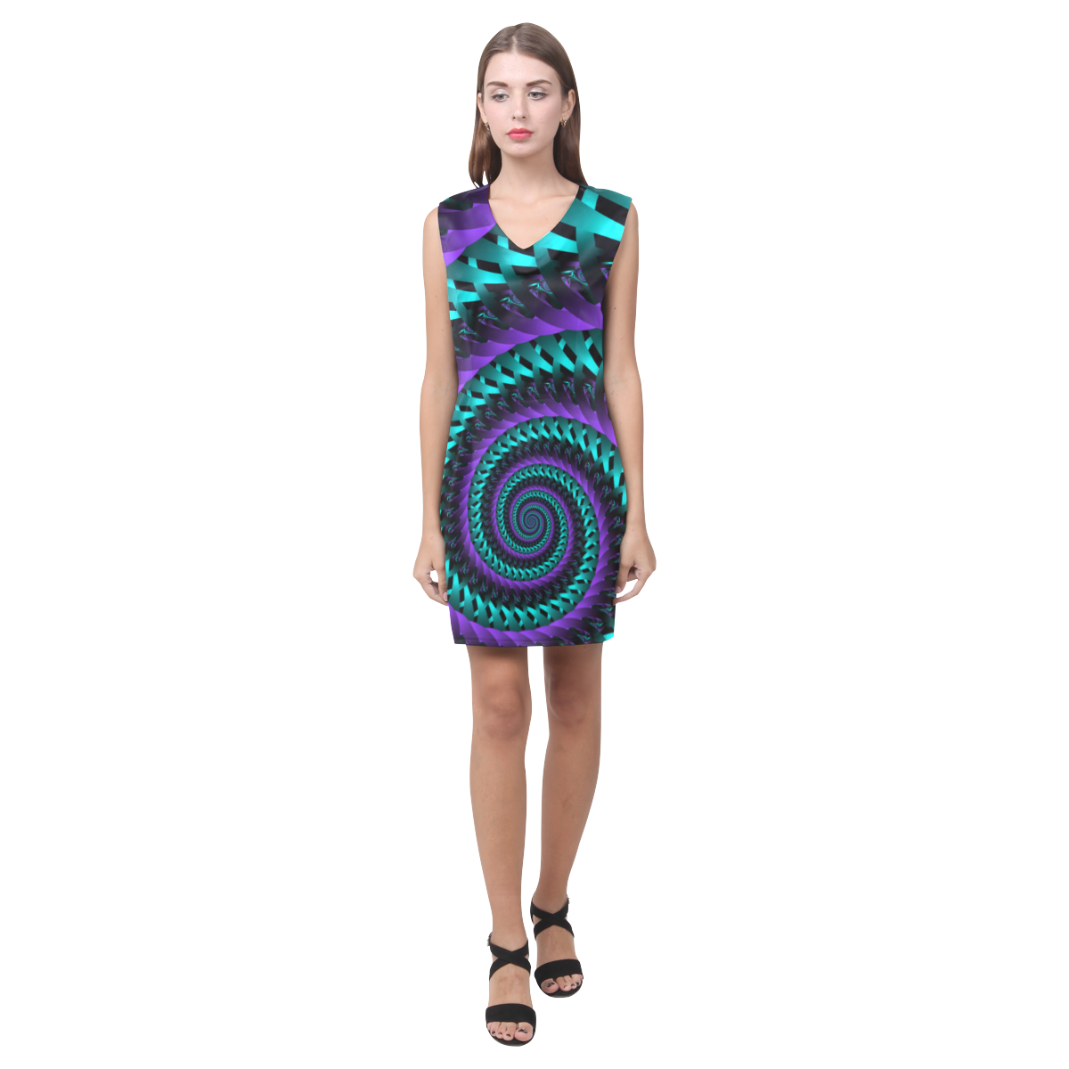 Weave & Weft Phoebe Sleeveless V-Neck Dress (Model D09)