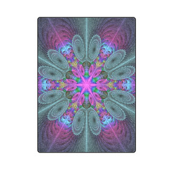 """Mandala From Center Colorful Fractal Art With Pink Blanket 58""""x80"""""""