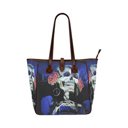 Sugar Skull and Roses Classic Tote Bag (Model 1644)