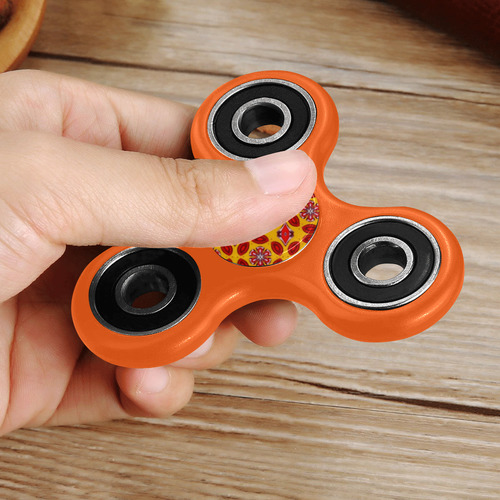 Yellow and Red Geometric Fidget Spinner