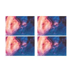 psychedelic milky way splash painting texture abstract background in red purple blue Placemat 12'' x 18'' (Four Pieces)