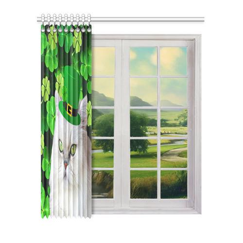 "Patrick's Irish Cat Window Curtain 52"" x 63""(One Piece)"