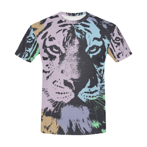 TIGER All Over Print T-Shirt for Men (USA Size) (Model T40)