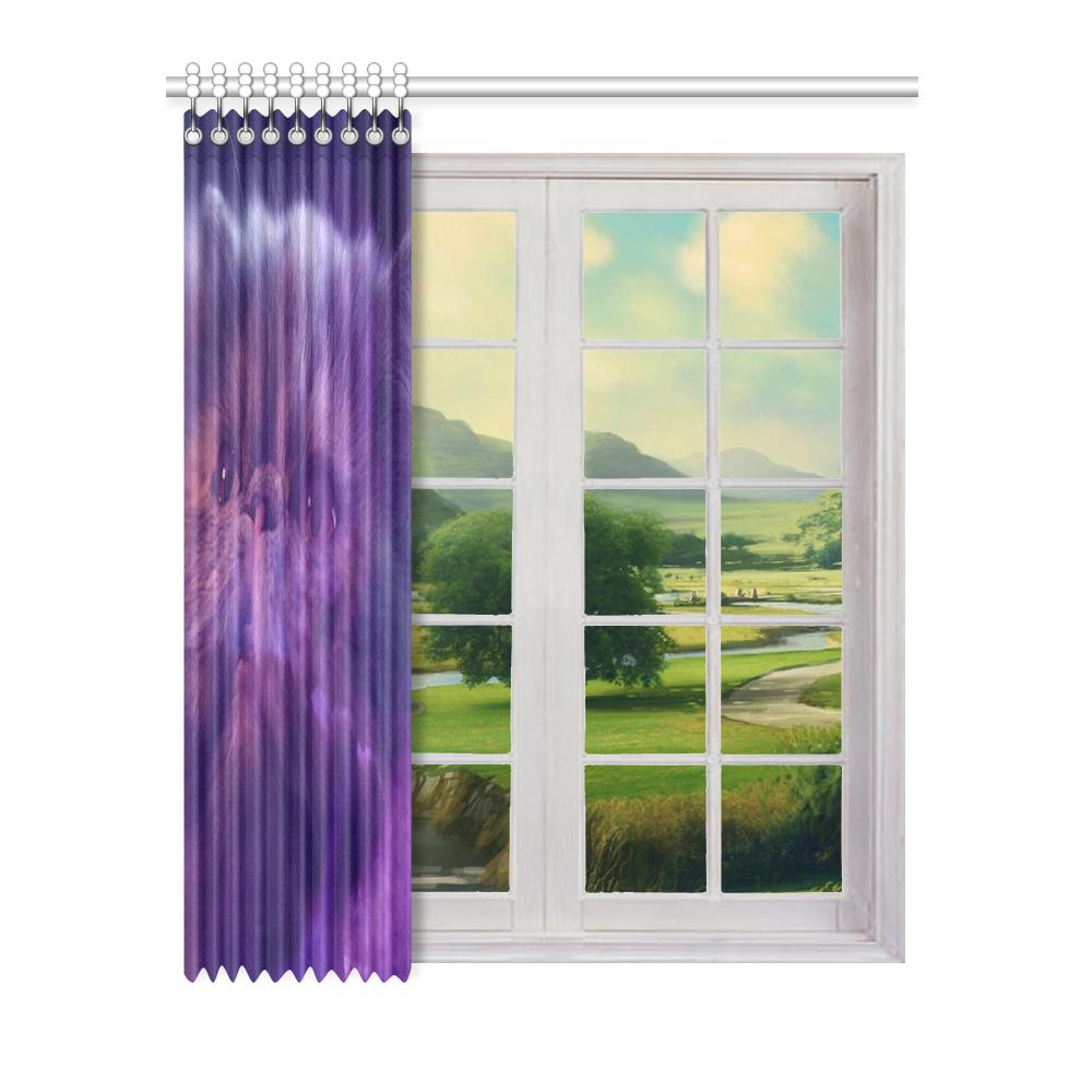 "Purple Cat Window Curtain 52"" x 63""(One Piece)"