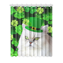 "Patrick's Irish Cat Window Curtain 52"" x 63""(One Piece)"