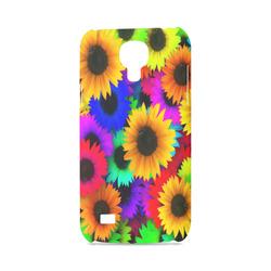Neon Rainbow Pop Sunflowers Hard Case for Samsung Galaxy S4 mini
