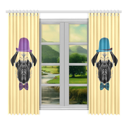 "MOPS PUPPY FOR KIDS Window Curtain 52""x96""(Two Piece)"