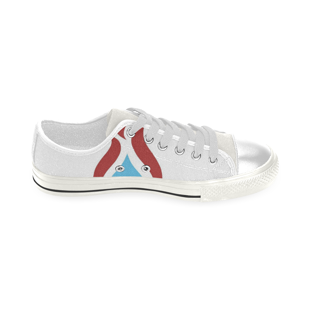 Fayah Fit White Low Top Canvas Shoes for Kid (Model 018)