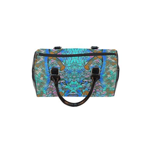 WOLF BLUE ART Boston Handbag (Model 1621)