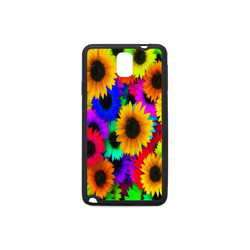 Neon Rainbow Pop Sunflowers Rubber Case for Samsung Galaxy Note 3
