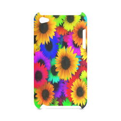 Neon Rainbow Pop Sunflowers Hard Case for iPod Touch 4