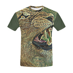 CAMOUFLAGE LION OR LIONESS All Over Print T-Shirt for Men (USA Size) (Model T40)