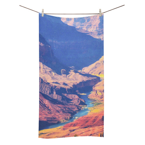 "mountain and desert at Grand Canyon national park, USA Bath Towel 30""x56"""