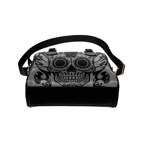 SKULL FLOWER TRIBALS Shoulder Handbag (Model 1634)
