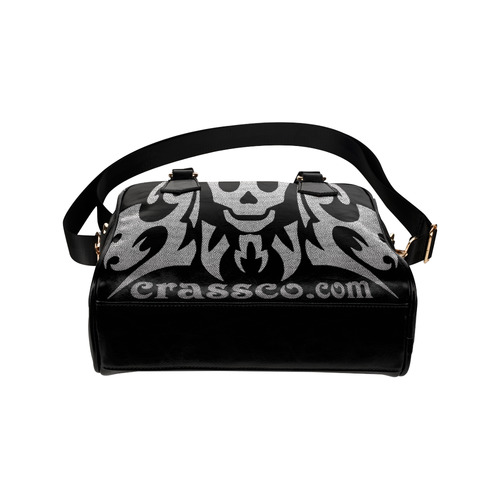 TRIBAL SKULL CRASSCO DESIGN Shoulder Handbag (Model 1634)