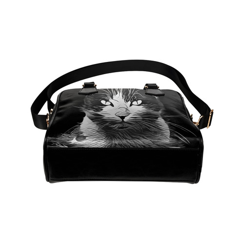 FUNNY CAT Shoulder Handbag (Model 1634)