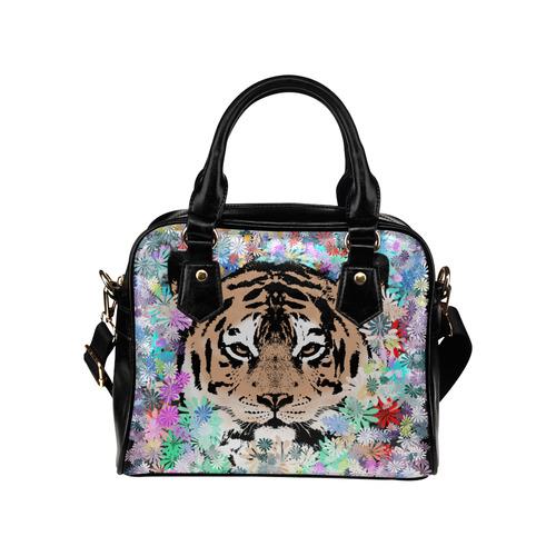 FLOWER TIGER Shoulder Handbag (Model 1634)