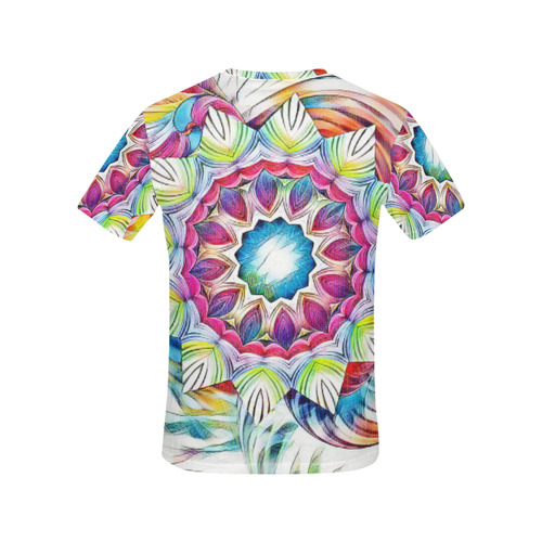 Sunshine Feeling Mandala All Over Print T-Shirt for Women (USA Size) (Model T40)