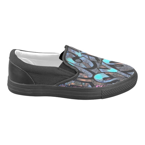 FUCK SYSTEM GRAFFITI Women's Unusual Slip-on Canvas Shoes (Model 019)