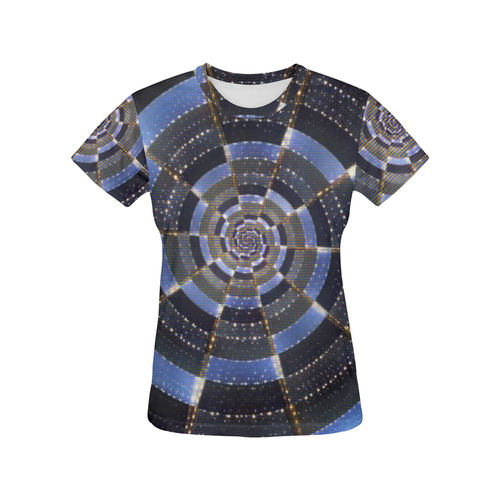 Midnight Crazy Dart All Over Print T-Shirt for Women (USA Size) (Model T40)