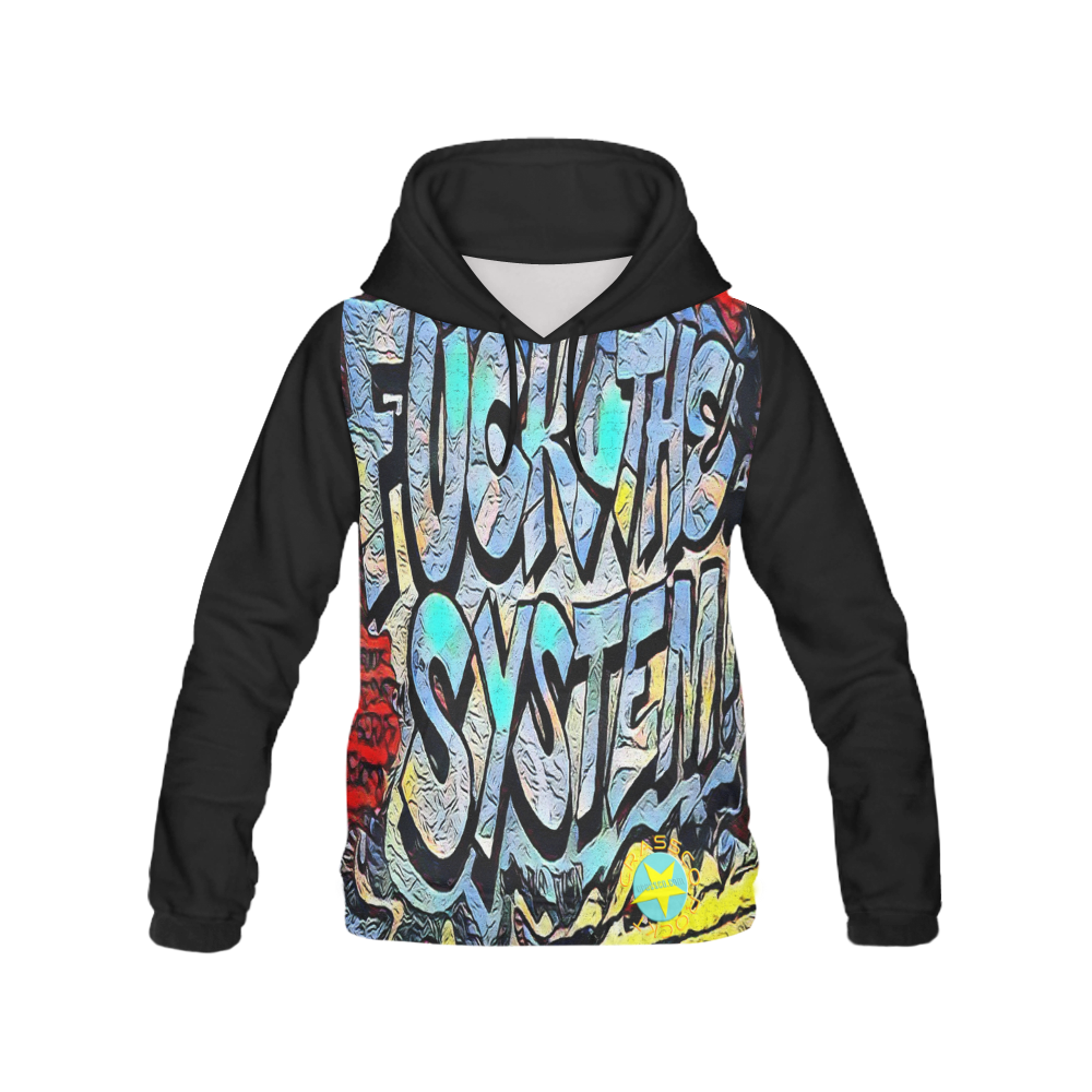 FUCK THE SYSTEM GRAFFITI V All Over Print Hoodie for Men (USA Size) (Model H13)