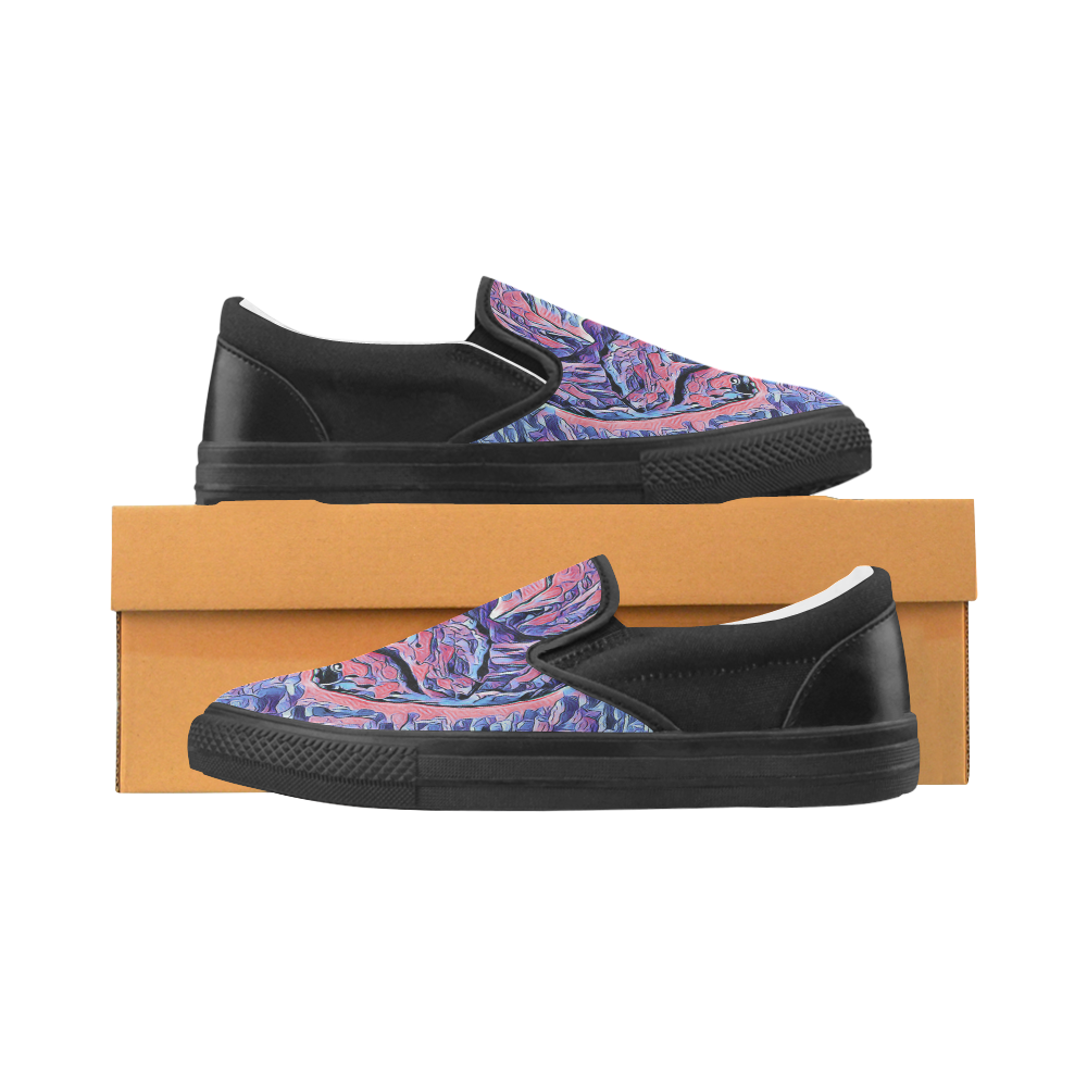 TYRANNOSAURUS Women's Unusual Slip-on Canvas Shoes (Model 019)