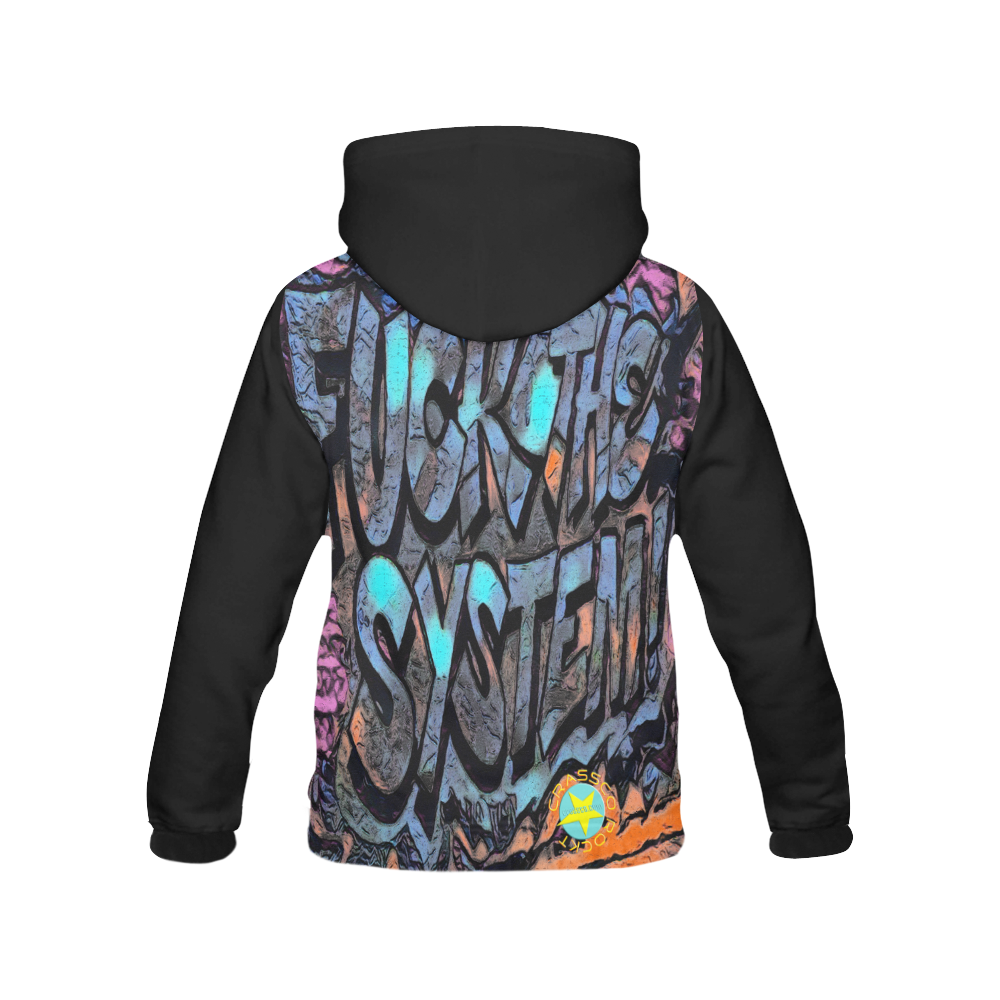 FUCK THE SYSTEM GRAFFITI IV All Over Print Hoodie for Men (USA Size) (Model H13)