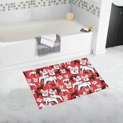 Bath Rug Bulldog Pop Art Print Bath Rug 20''x 32''