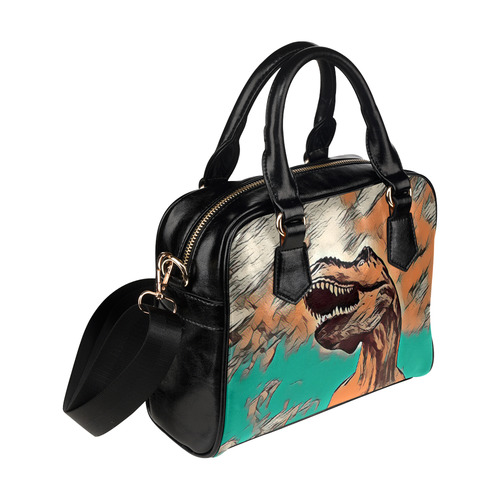 DINO TYRANNOSAURUS Shoulder Handbag (Model 1634)