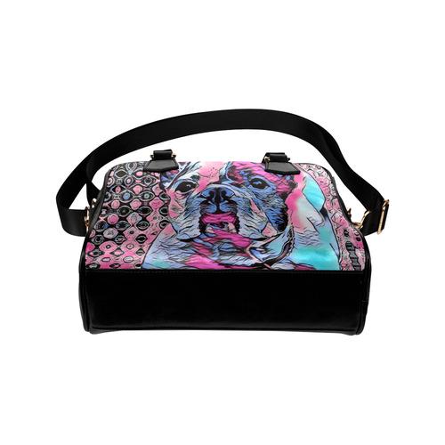 FRENCH BULLDOG PINK BY CRASSCO Shoulder Handbag (Model 1634)