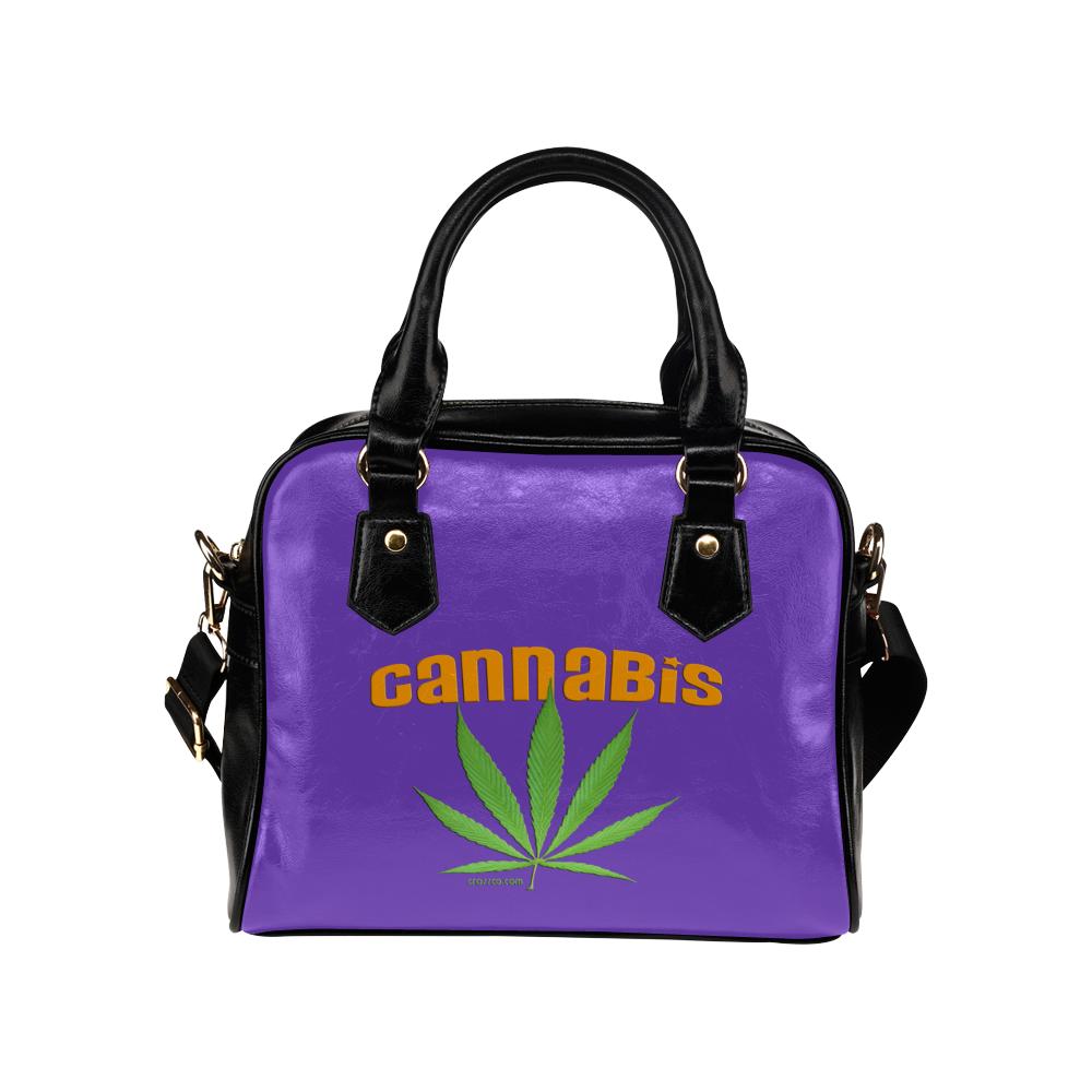 CANNABIS LILAC Shoulder Handbag (Model 1634)