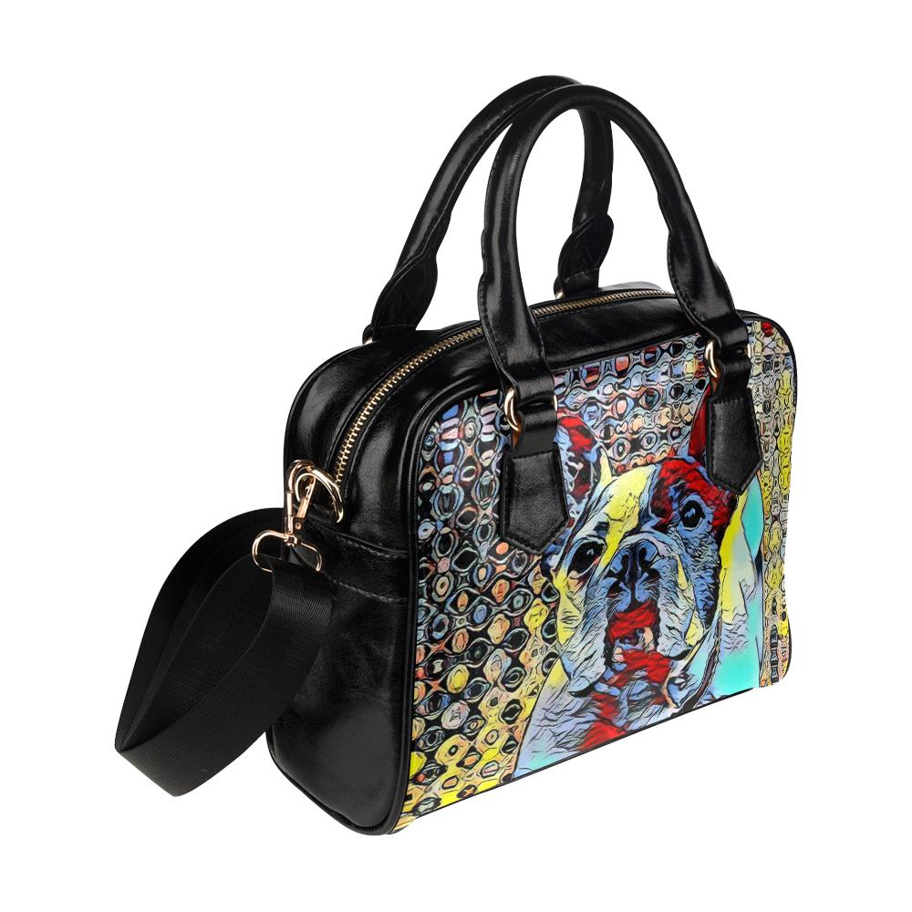 FRENCH BULLDOG ART BY CRASSCO Shoulder Handbag (Model 1634)