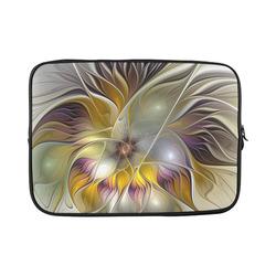 "Abstract Colorful Fantasy Flower Modern Fractal Custom Sleeve for Laptop 15.6"""