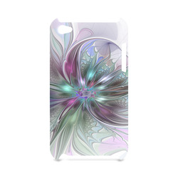 Colorful Fantasy Abstract Modern Fractal Flower Hard Case for iPod Touch 4