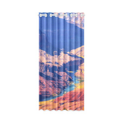 """mountain and desert at Grand Canyon national park, USA New Window Curtain 50"""" x 108""""(One Piece)"""