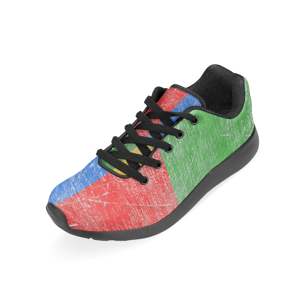 RED GREEN BLUE YELLOW Men's Running Shoes (Model 020)