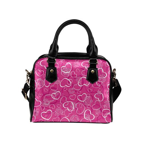 PINK HEARTS Shoulder Handbag (Model 1634)