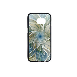 Floral Fantasy Pattern Abstract Blue Khaki Fractal Rubber Case for Samsung Galaxy S7 edge