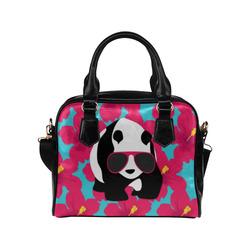 Panda Sunglasses Tropical Hibiscus Floral Shoulder Handbag (Model 1634)