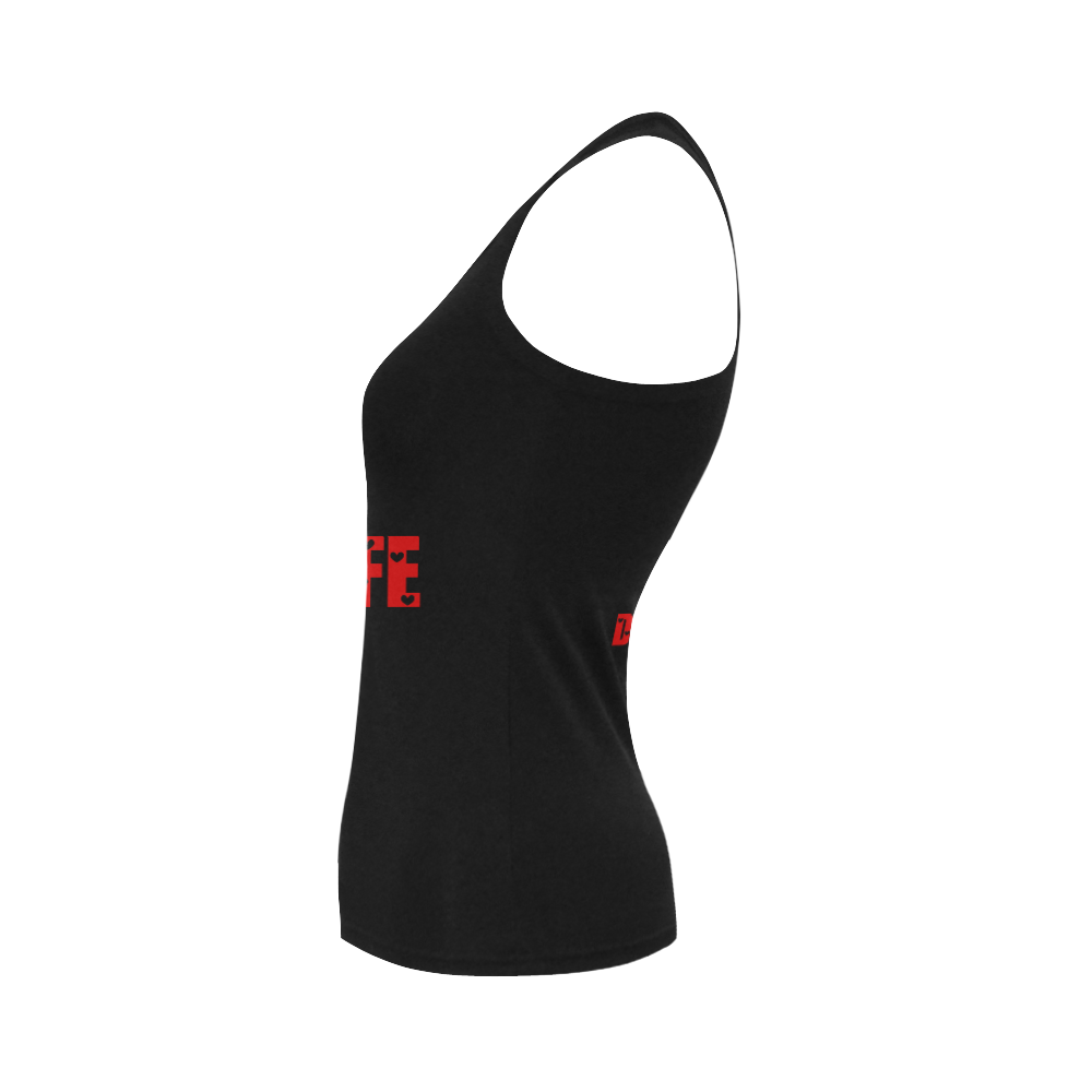 DKD Creations Boss Life Women's Shoulder-Free Tank Top (Model T35)