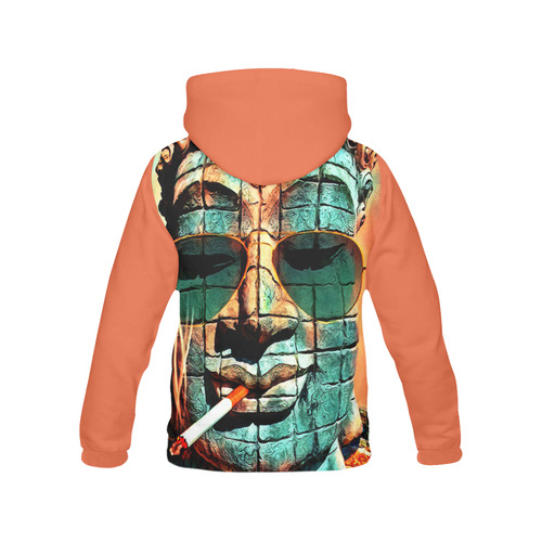 FUNNY BUDDHA All Over Print Hoodie for Men (USA Size) (Model H13)